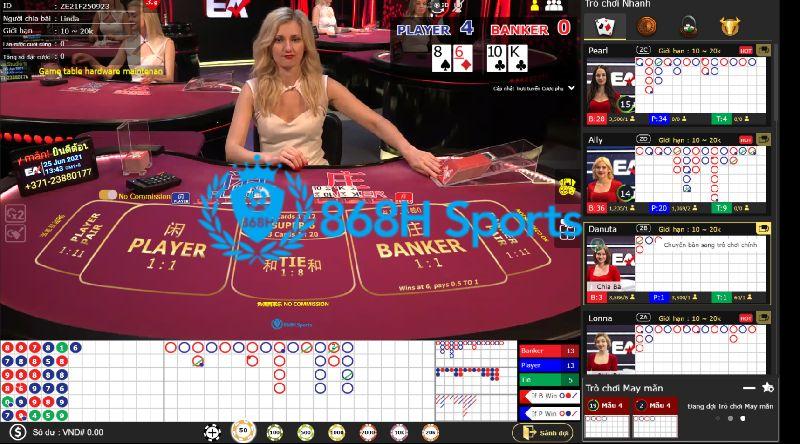 Trực tiếp game trong casino online