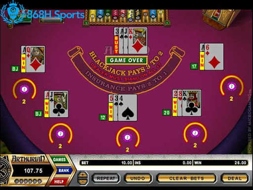 Bàn chơi Blackjack 868h